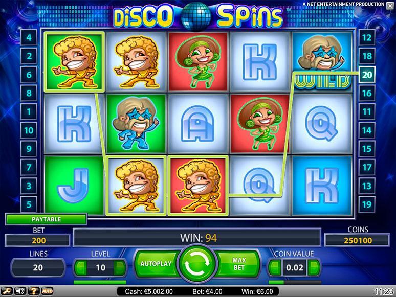 Disco Spins kostenlos spielen | Online-Slot.de