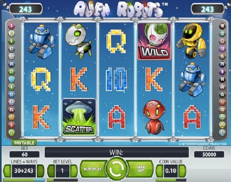 Alien Robots kostenlos spielen | Online-Slot.de