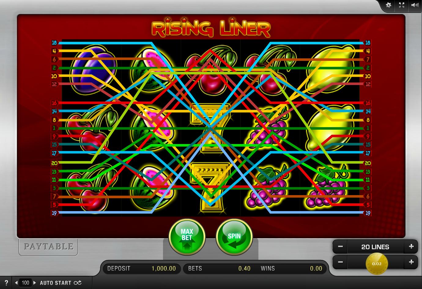 Rising Liner Slot - Spielen Sie dieses Spiel von Merkur Online