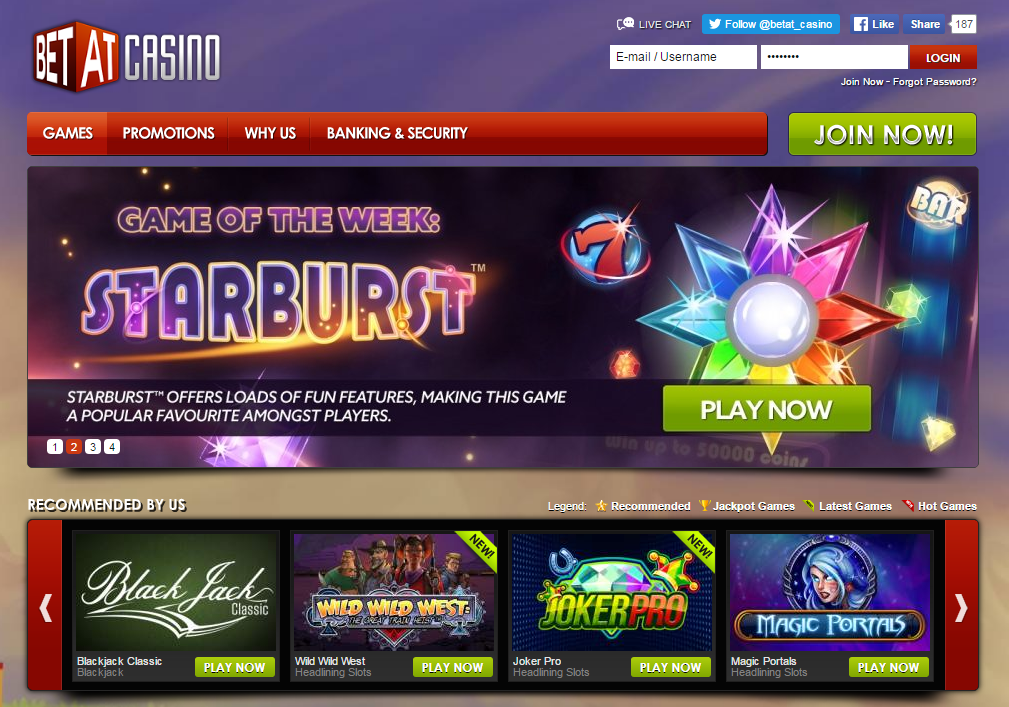 betat casino main page