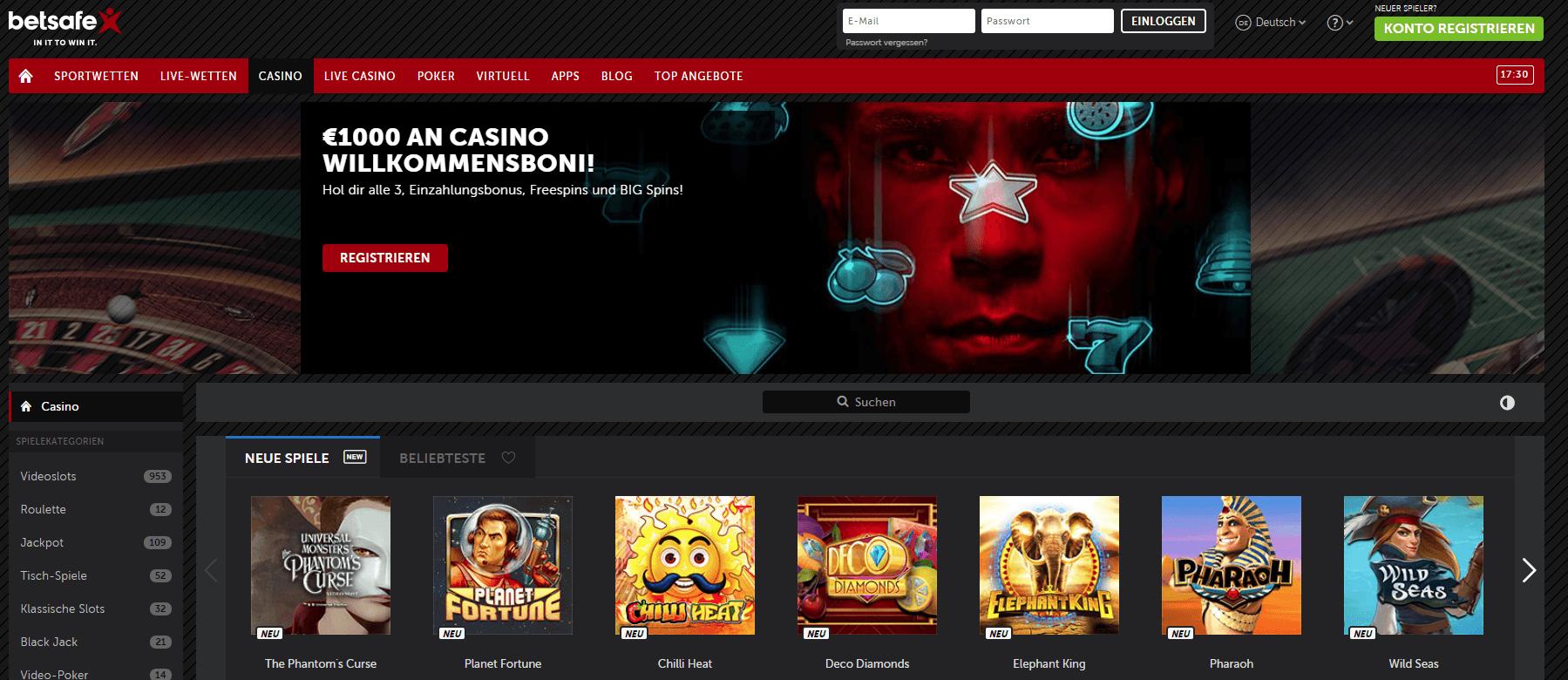 Betsafe Casino Bonuses
