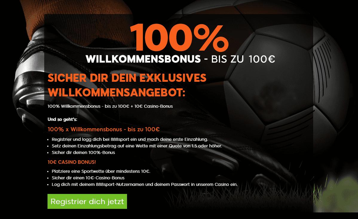 888 Sportwetten Willkommensbonus