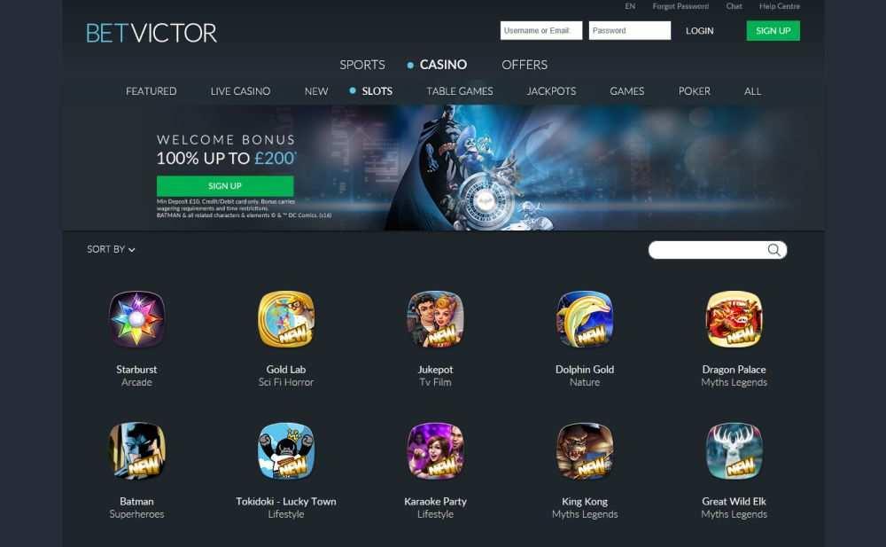 BetVictor Casino Spiele