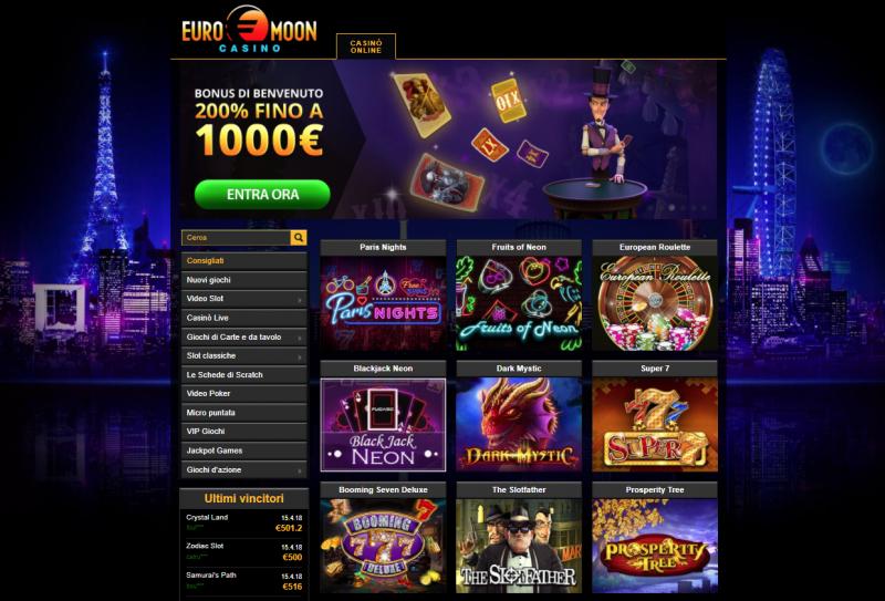 Euromoon Casino Spiele