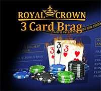 Royal Crown 3 Card Brag kostenloses Kartenspiel von Novoline online Casino