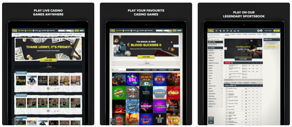 SuperLenny Casino Mobile App iPad