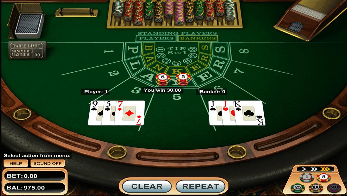 Baccarat Spiel