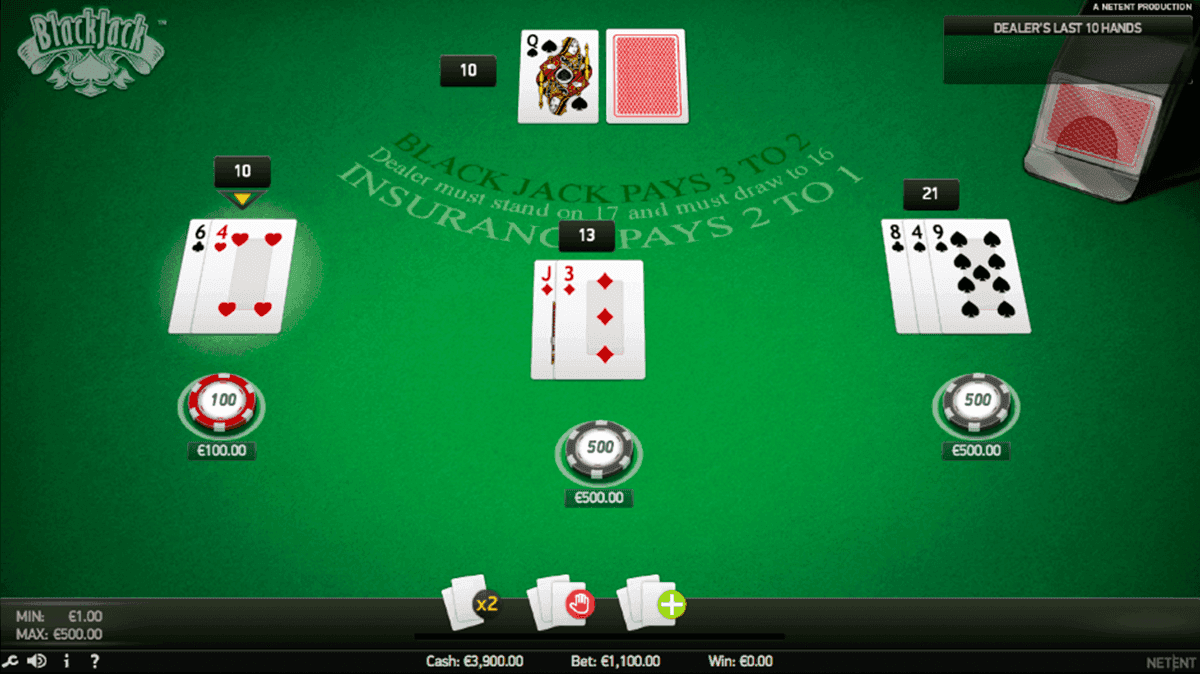 spiele blackjack netent