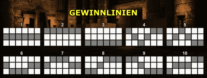 Book of Ra 6 Deluxe Gewinnlinien