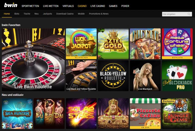 Bwin Casino Spieleplattformen Bewertung