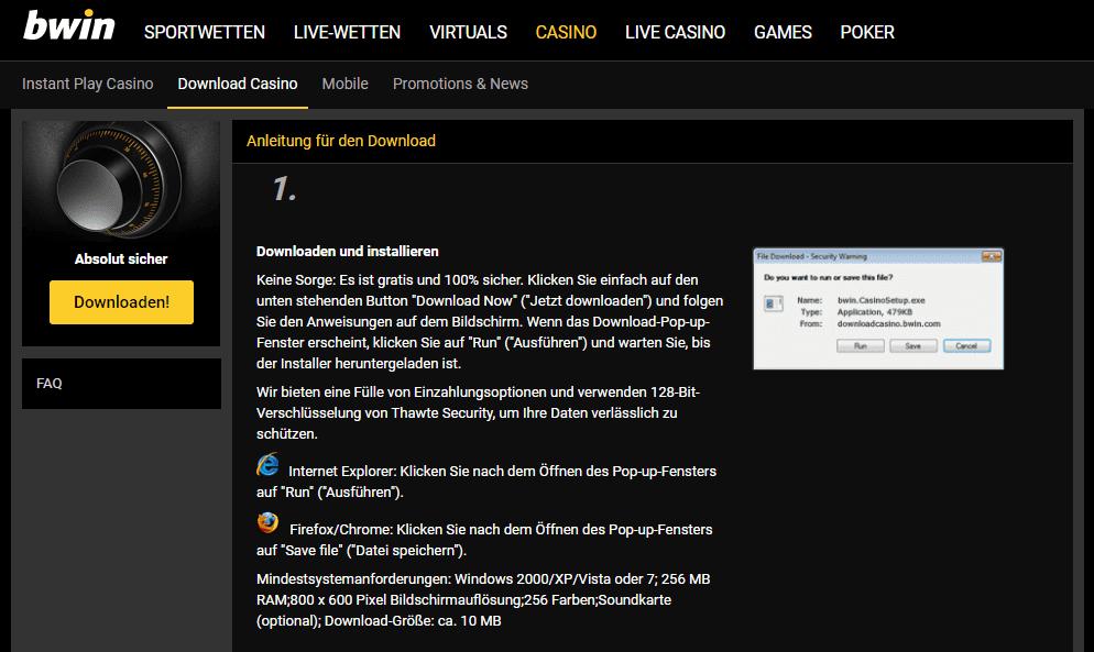 Bwin Desktop Download Version