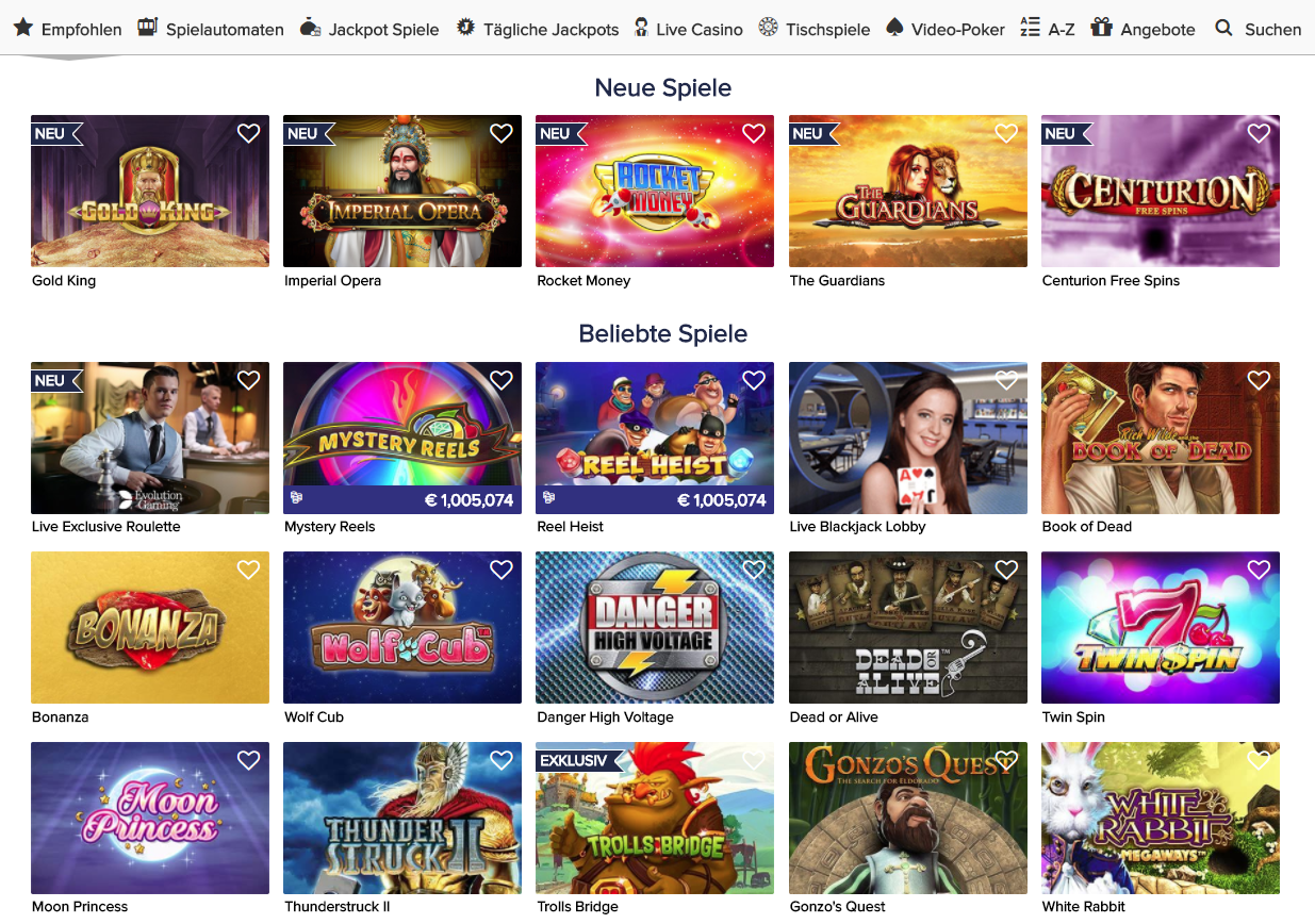 CasinoEuro Spieleplattformen Bewertung