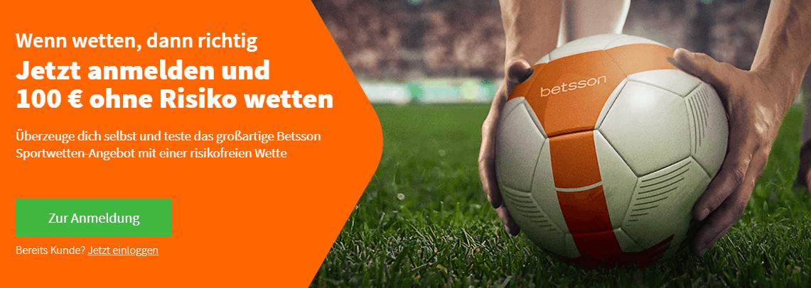 Der Betsson Sportwetten Bonus – 100% bis zu 100€ und fünf Freiwetten