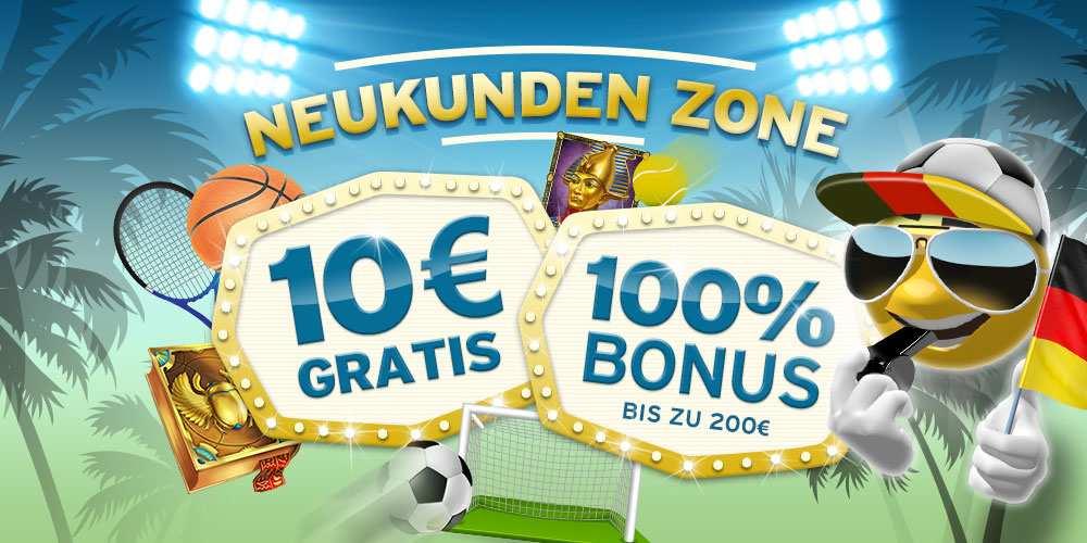 Die SunnyPlayer Neukunden Zone – 10€ Gratisbonus für 1€ bei der ersten Einzahlung!