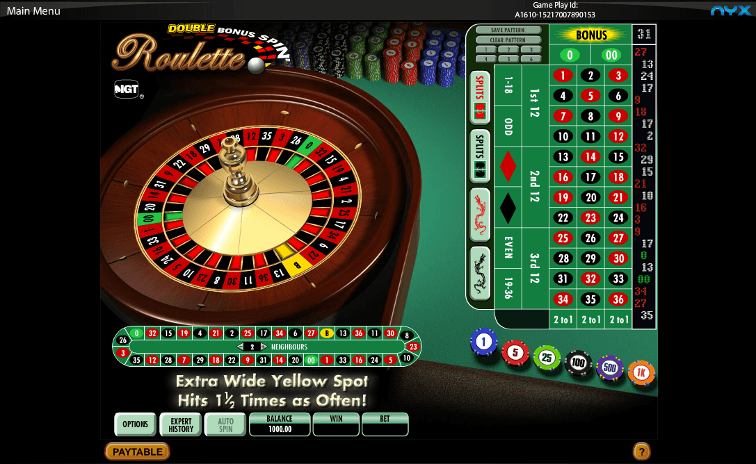 Roulette online double up