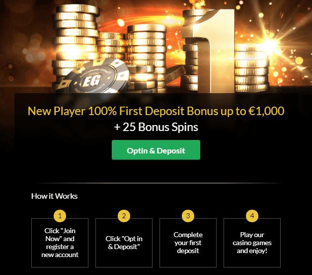 EuroGrand Casino Einzahlungbonus