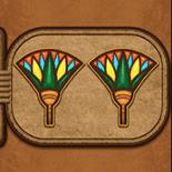 Eye of Horus kostenlos spiel Zwei Blumen Symbol