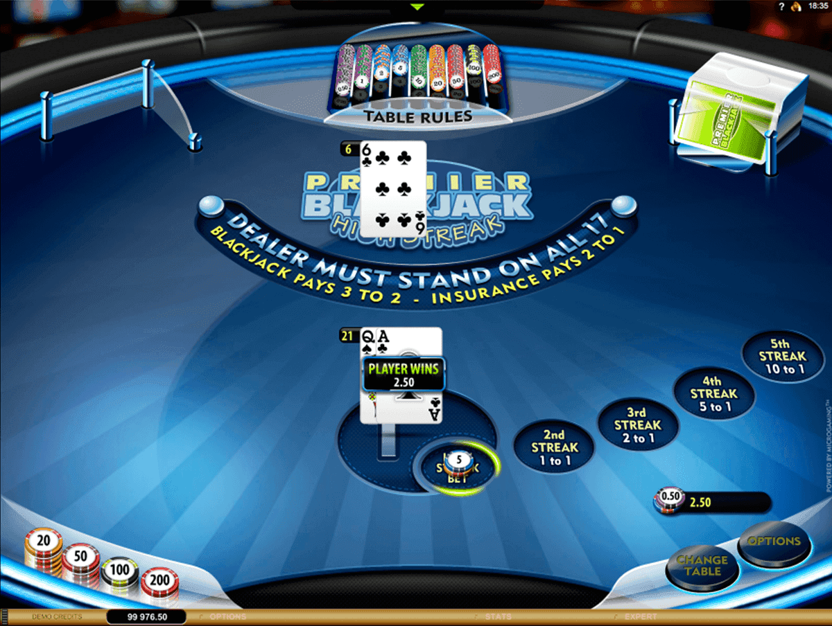 Premier High Streak Blackjack