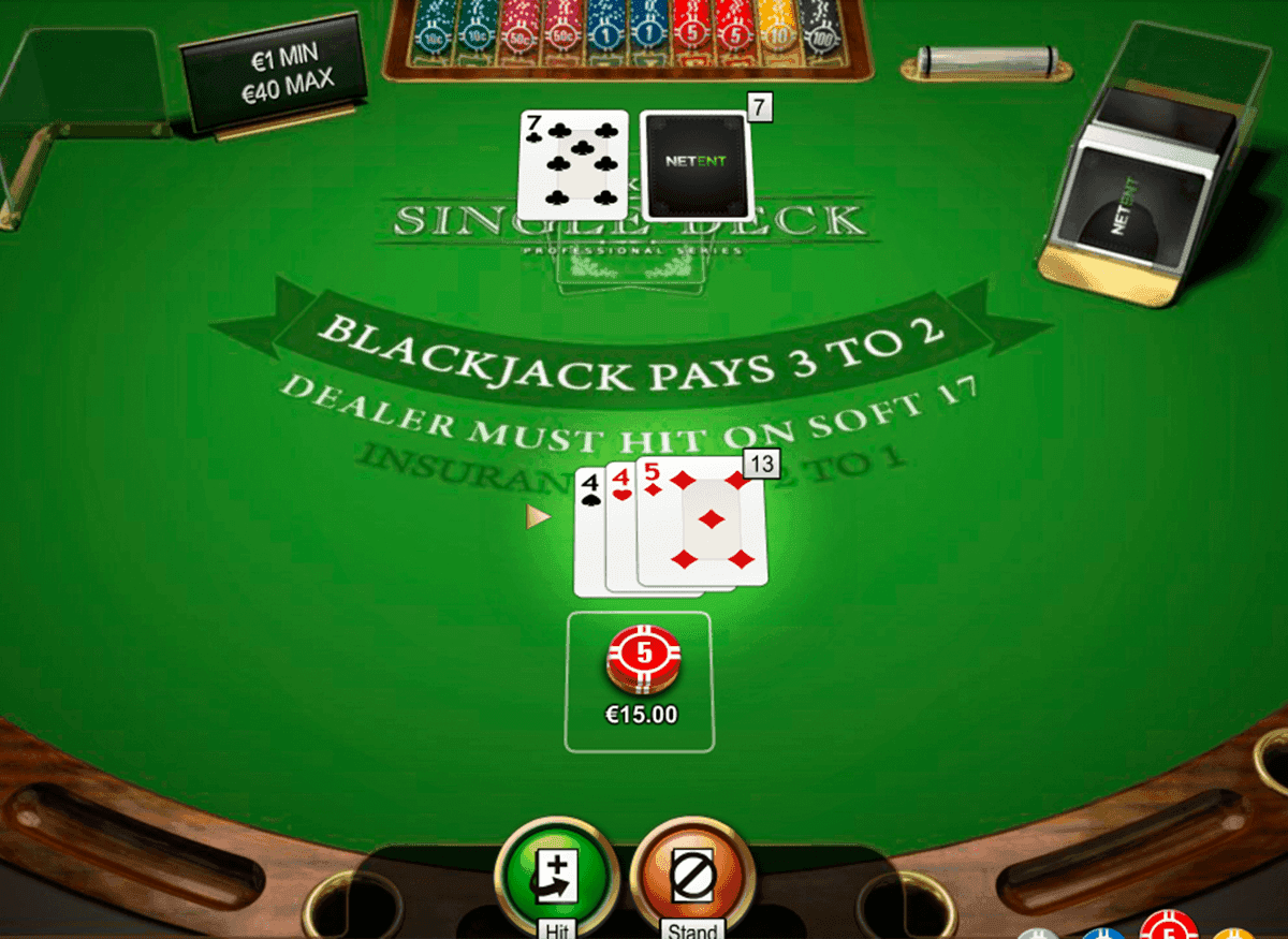 spiele blackjack single deck low netent