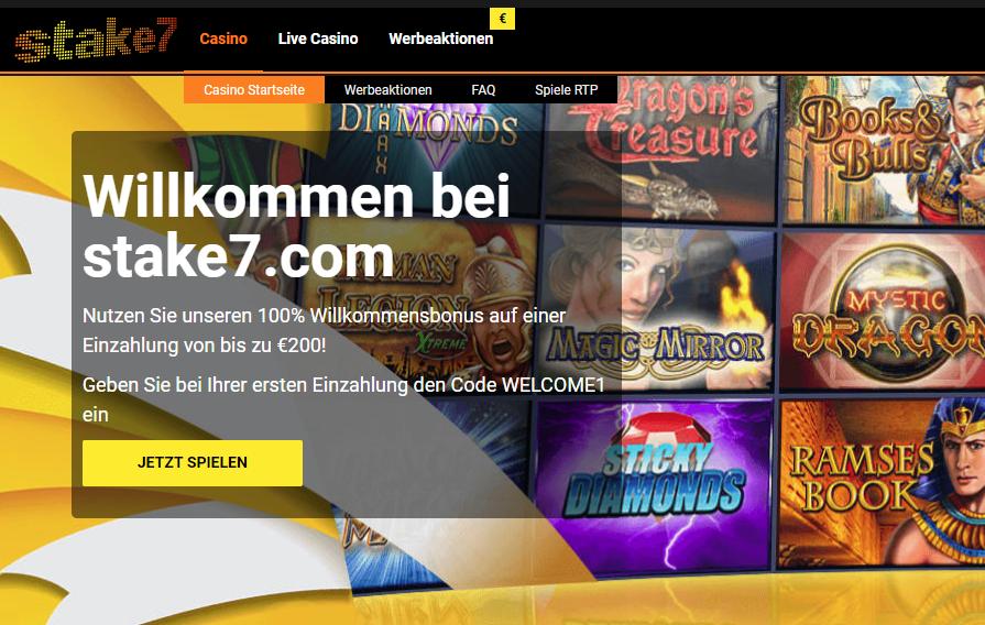 Stake7 Casino Willkommenbonus