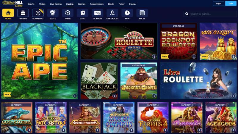 William Hill Casino Spieleplattformen Bewertung