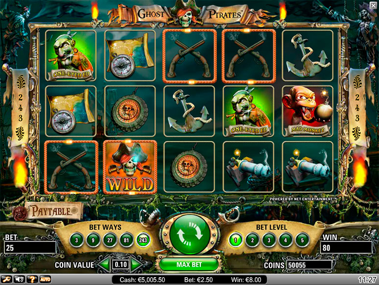automatenspiele ghost pirates