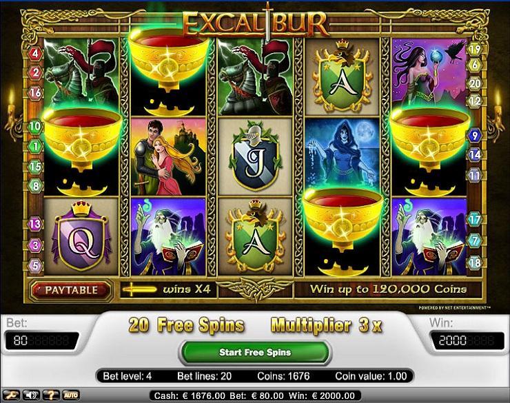 Excalibur spielautomaten kostenlos