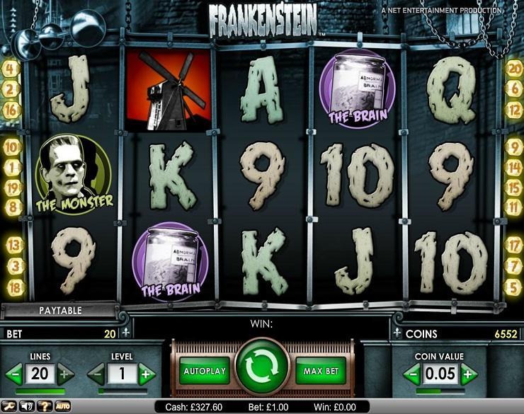 Frankenstein spielautomaten kostenlos