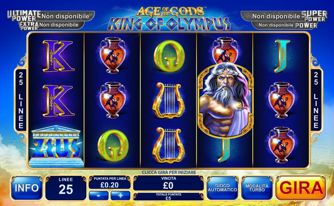 Spiele Age Of The Gods: Rulers Of Olympus - Video Slots Online