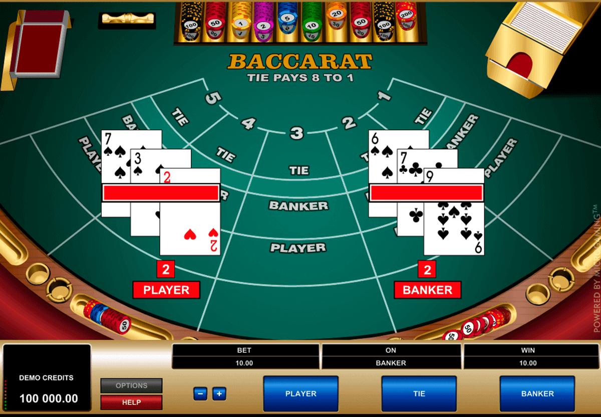 ▷ Baccarat Kostenlos spielen Online ohne Anmeldung ▷ Microgaming ...