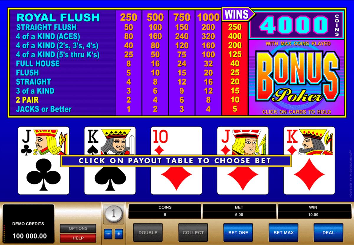 Video Poker Kostenlos Spielen